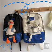 韓國ins工裝學生港風街拍書包大容量雙肩包男女ulzzang原宿背包  傑克型男館