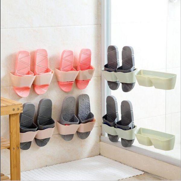TW壁掛鞋子防塵收納架門後塑料簡易收納鞋櫃家用客廳掛墻鞋架 巴黎春天