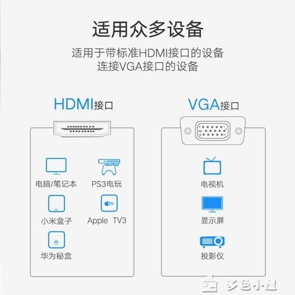 轉接線hdmi轉vga線vja電腦屏幕連接主機高清數據線vda顯示屏vag轉接頭vgi公頭 【快速出貨】