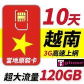 【TPHONE上網專家】越南電信 10天 120GB 不降速