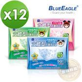 【醫碩科技】藍鷹牌NP-3DZSS*12立體防塵口罩2-4歲專用 超高防塵率 藍綠粉 50入*12盒免運