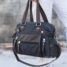 帆布包斜背包潮包手提包男單肩包斜背包旅行包時尚包包百搭休閒包 秘密盒子