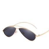 弧形太陽眼鏡 時尚海洋片貓眼太陽鏡 復古墨鏡【五巷六號】y150