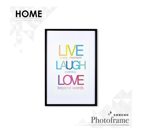 【南紡購物中心】Live Laugh Love 相框裝飾畫 63x43cm