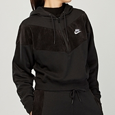 Nike Hrtg HZ Velour 女款 黑 燈芯絨 半開襟 連帽 長袖 CZ1879-010