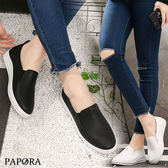 平底鞋.逛街必備不磨腳一腳蹬平底鞋【KV6679】黑/白(偏小)