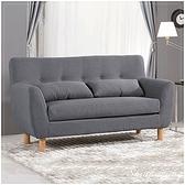 【水晶晶家具/傢俱首選】JM1725-2 科特150cm二人位高級棉麻布沙發椅~~附抱枕2個