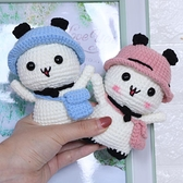 毛線手工diy材料包自制鉤針編織毛線團手作小貓掛件玩偶制作禮物 初色家居館