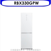 《結帳打95折》日立【RBX330GPW】313公升雙門(與RBX330同款)冰箱GPW琉璃白