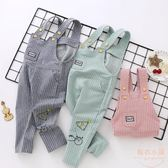 寶寶背帶褲女童6個月3歲嬰兒夏裝棉質小孩褲子男薄款休閒彈力 店家有好貨