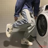 運動褲 男冬季加厚衛褲外穿褲子寬鬆秋冬款針織ins超火 3色