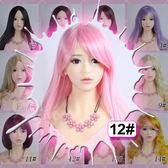 情趣用品 裝扮假髮‧12# 粉色 斜劉海 長直髮