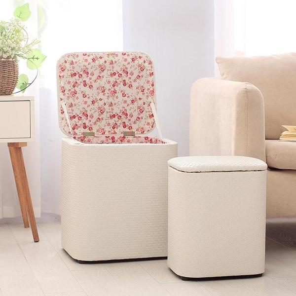 皮藝多功能收納凳子儲物凳可坐人現代簡約換鞋凳沙發凳整理箱