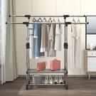 晾衣架落地折疊室內單桿式曬衣架臥室掛衣架家用簡易涼衣服的 LX 智慧 618狂歡
