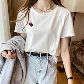 年夏季純棉短袖T恤女士設計感小眾薄款上衣【聚物優品】