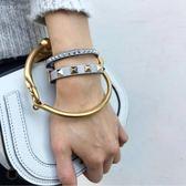 ■專櫃74折 ■2019秋冬全新真品Chloe 3S130 Nile 小款尼羅河女兒手鐲小牛皮金環包 白色