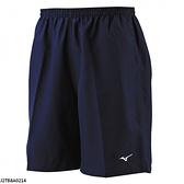 Mizuno [J2TB8A0214] 男女 短褲 運動 跑步 路跑 輕量 吸汗 速乾 舒適 單層 無內裡 深藍