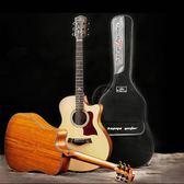卡馬吉他包海綿加厚雙肩背包黑色40寸41寸吉他防水琴包通用吉它袋