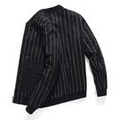外套夾克 外套男春秋季韓版潮流加肥加大碼上衣棒球服條紋休閒夾克 果果生活館