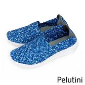 【Pelutini】時尚彈性編織休閒運動鞋  彩藍(8455-BLU)