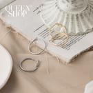 Queen Shop【07030624】簡約大圓形霧面耳針式耳環 兩色售*現+預*