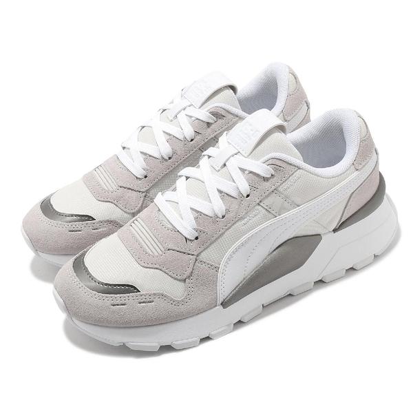 Puma 休閒鞋 RS 2.0 Mono Metal Wns 白 灰 銀 女鞋 小白鞋 百搭【ACS】 37467001