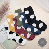 現貨✶正韓直送【K0279】韓國襪子 針織圓點中筒襪 韓妞必備 百搭款 素色襪 免運 阿華有事嗎