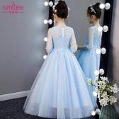 女童連衣裙夏裝新款童裝女兒童公主裙蓬蓬紗高端禮服女孩洋氣裙子