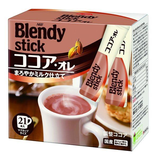 【小福部屋】【日本 AGF BLENDY】可可亞歐蕾 21入 即溶沖泡可可粉 生理期 暖心必備【新品上架】