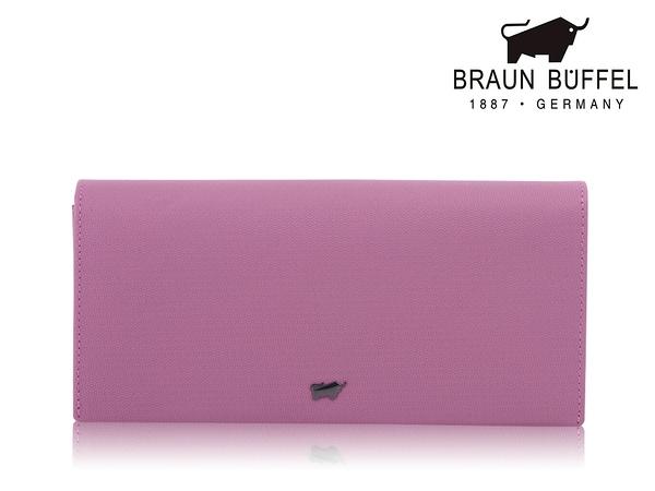 【全新品公司貨】BRAUN BUFFEL 可放零錢長皮夾 優雅紫 【寧寧小舖/台中30年老店】BF652-200-1