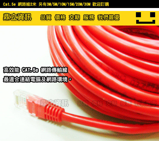 【鼎立資訊&網路線】*Cat.5e 網路線 網線 Net Cable 3M 3米