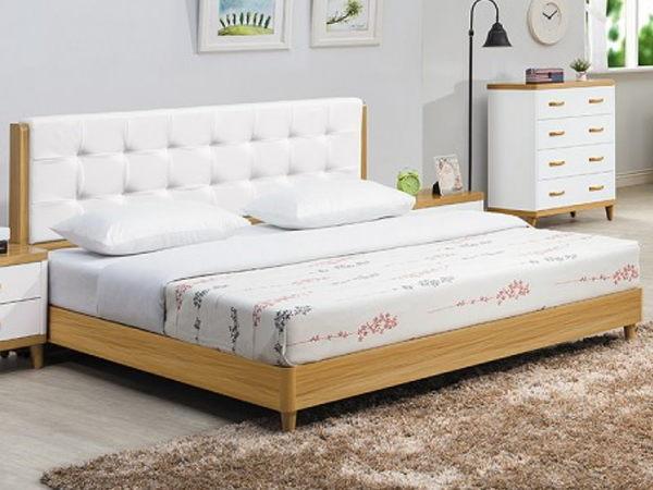 床架 床台 CV-137-3 寶格麗5尺床片式雙人床 (不含床墊) 【大眾家居舘】