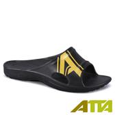 【333家居鞋館】足底均壓 潮感個性足弓拖鞋-黑黃色