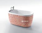 【麗室衛浴】BATHTUB WORLD  粉紅繽紛馬賽克造形獨立缸  YG3301M1  130/140/150*75*H66CM
