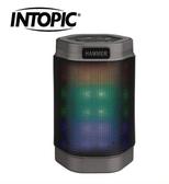 新竹【超人3C】INTOPIC 廣鼎 BT160 炫彩LED 藍牙無線喇叭 FM廣播 可插卡 自拍 藍芽喇叭