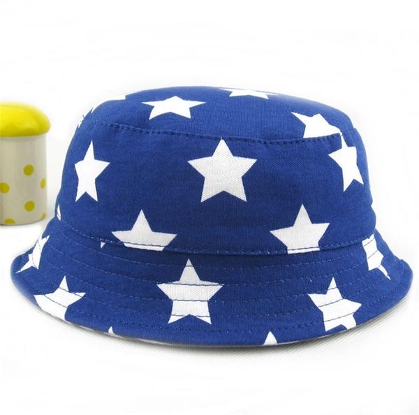 全館83折 兒童帽子春夏季男童漁夫帽遮陽棉質布雙面戴舒適寶寶太陽帽