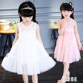 女童連身裙夏季洋氣中大童白色網紗洋裝 2019新款韓版兒童公主裙 XN605『東京潮流』