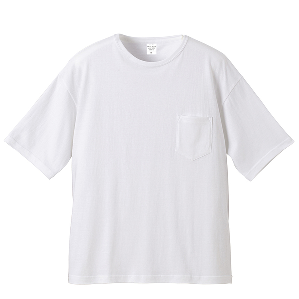 日本品牌 United Athle 5008 頂級柔棉 寬版 落肩 口袋 素Tee 5.6 oz【UA5008】