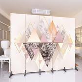 屏風 新歐式屏風隔斷牆客廳臥室現代簡約時尚折屏移動折疊雙面布藝玄關wy全館免運