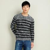 【101原創】撞色條紋針織毛衣(男)-共3色