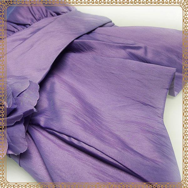 『摩達客』美國進口Landmark無肩帶浪漫紫緞面泡泡裙派對小禮服/洋裝(含禮盒)(1831395005)
