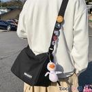 熱賣側背包 休閒簡約男士斜背包ins潮牌男生運動挎包日系時尚潮流斜背側背包  coco