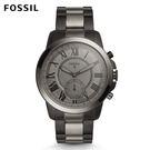 FOSSIL Grant黑灰色不鏽鋼指針式智慧手錶 男 FTW1139