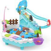 童勵磁性釣魚玩具池套裝兒童寶寶1-3歲女孩益智男孩小企鵝爬樓梯第七公社