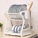 瀝水架 放碗架水槽瀝水架廚房置物架水池放碗碟2層碗筷收納架桌面儲物架
