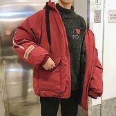 男士寬鬆日式夾克冬裝加絨 防寒男生短外套 韓版加厚羽絨外套 男個性百搭秋冬棉服潮流時尚外套