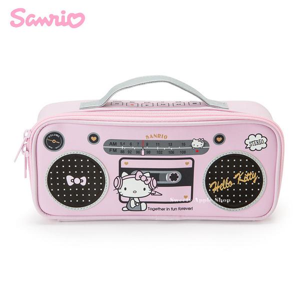 日本限定 HELLO KITTY 收音機造型 筆盒 / 收納包
