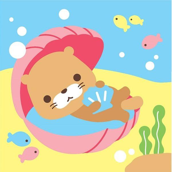 LOVIN 超萌韓版數字油畫 海洋系列可愛貝殼海獺(2) 1幅