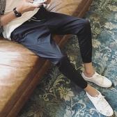 夏季薄款九分褲男修身窄管褲韓版流百搭男褲學生束腳9分休閒褲 卡卡西