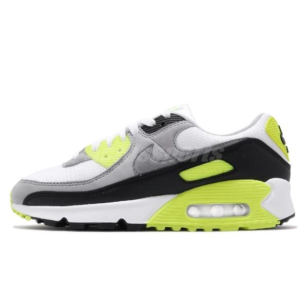 Nike 休閒鞋 Wmns Air Max 90 OG Volt 灰 綠 螢光綠 女鞋 經典配色 運動鞋 【ACS】 CD0490-101
